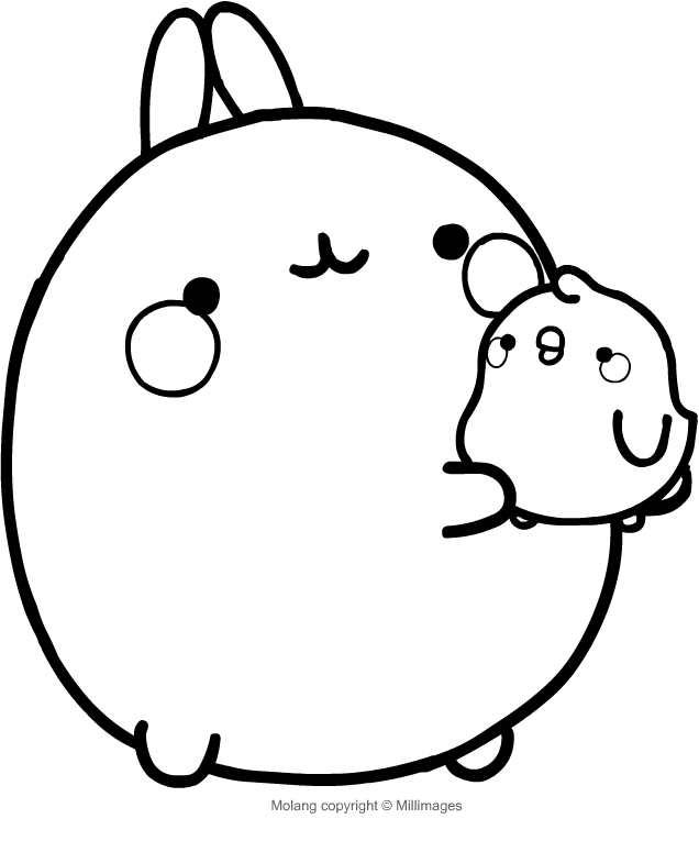 Get Molang Coloring Pages For Print Collections - Roda Dunia