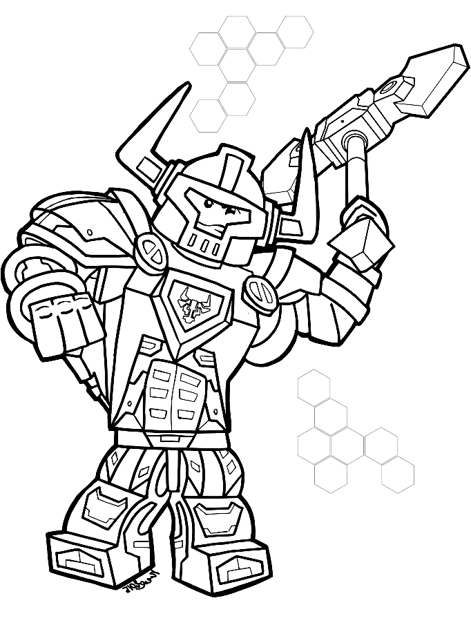 - Drawing Dei Lego Nexo Knights Coloring Page