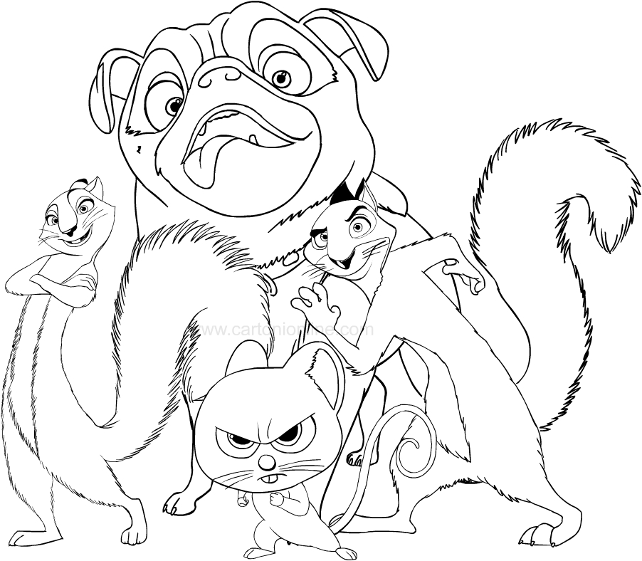 drawing nut job the movie coloring pages printable for kids