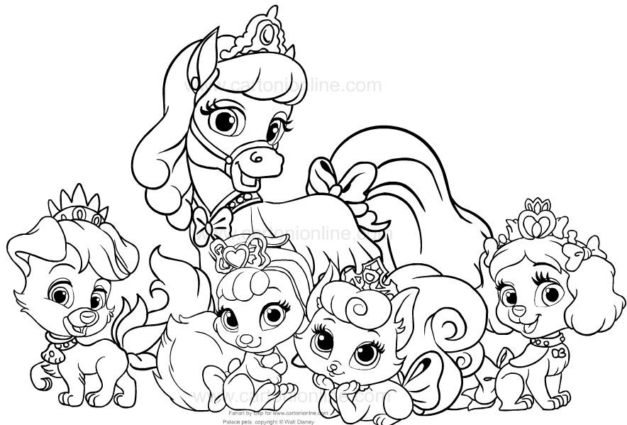 - Drawing Palace Pets Coloring Page