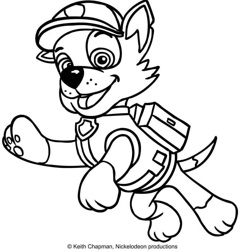 Rocky Paw Patrol Coloring