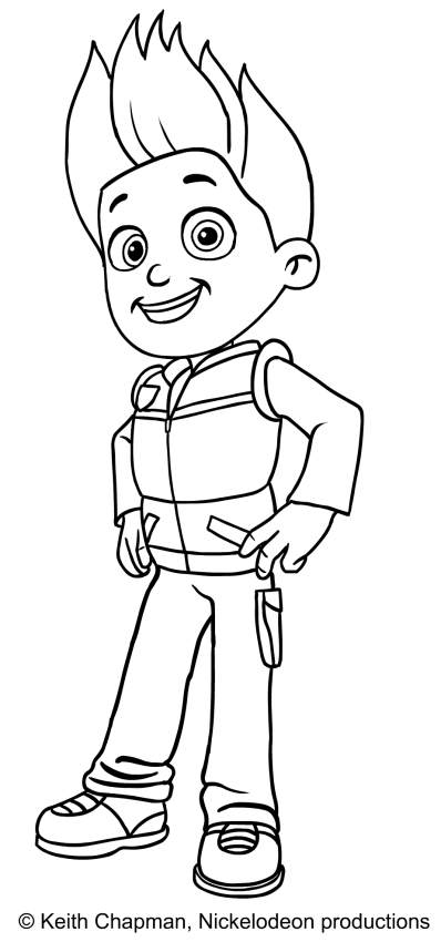 Paw Patrol Ryder Coloring Pages To Print : Ryder paw patrol coloring page
