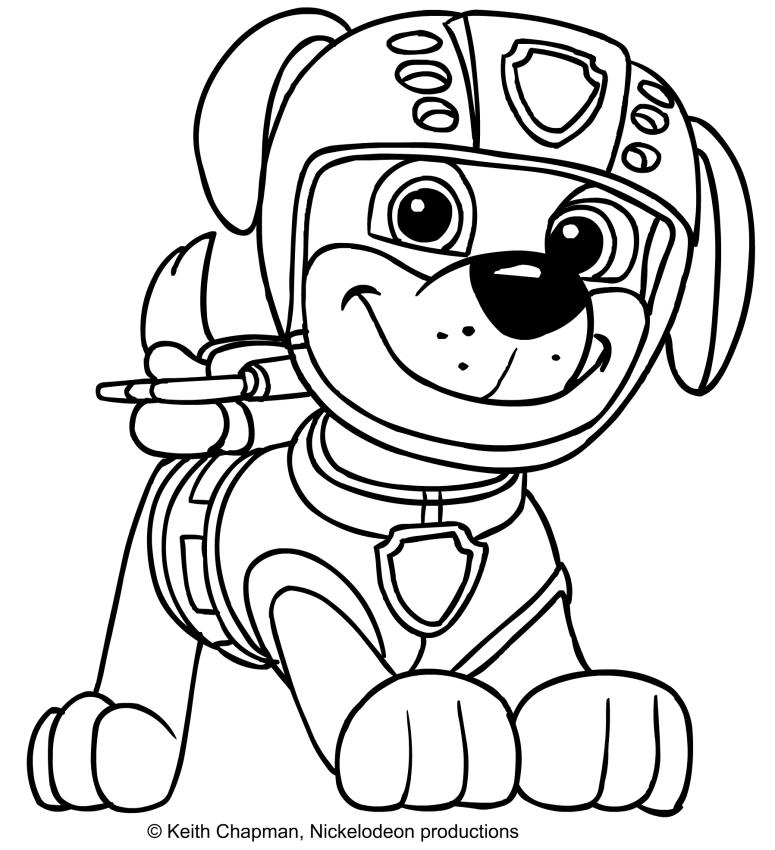 Zuma coloring page paw patrol