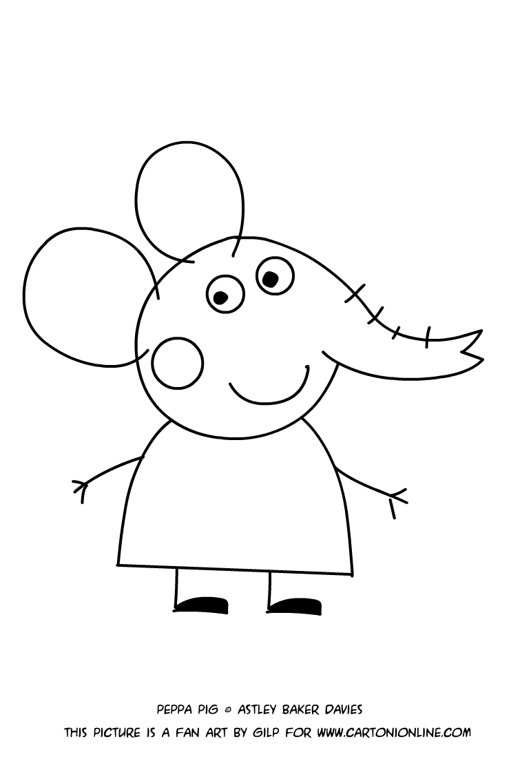 emily elephant coloring pages