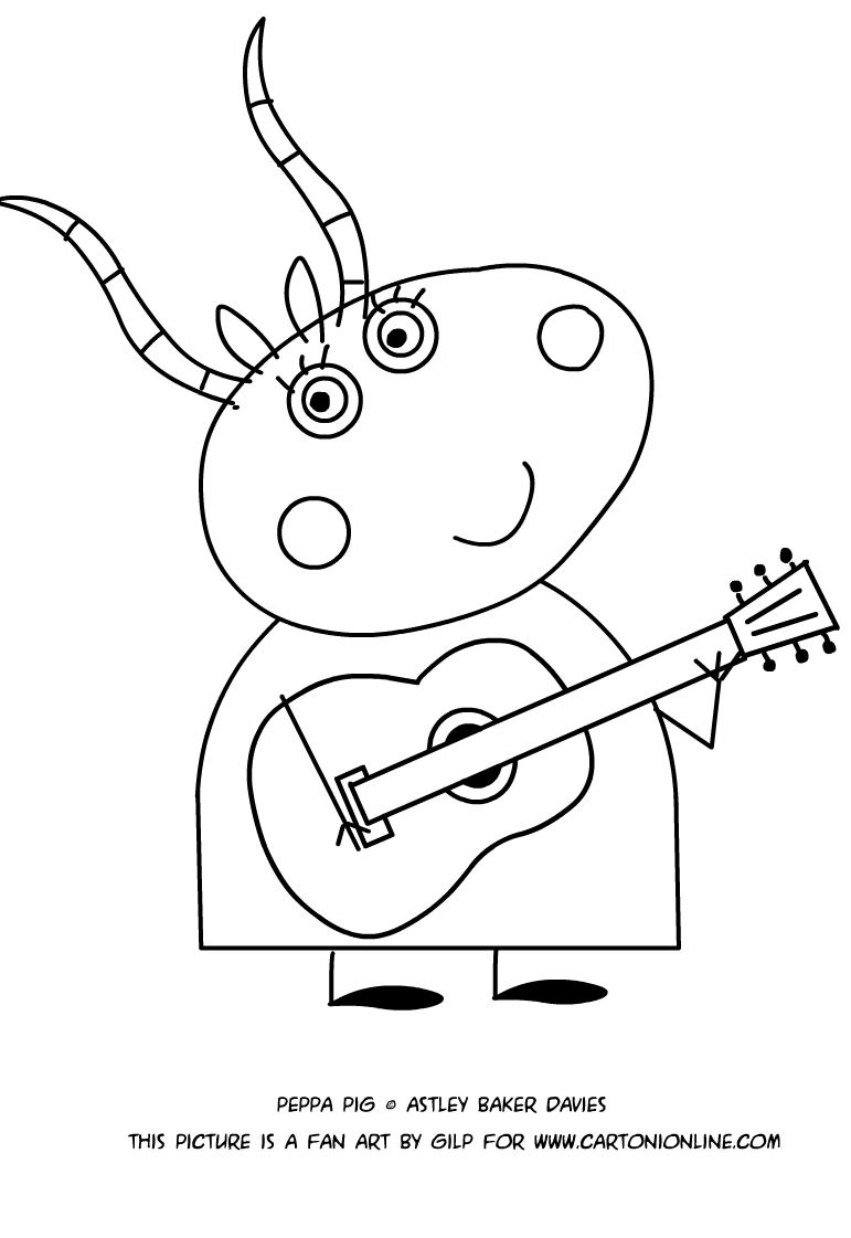 Madame Gazelle coloring pages