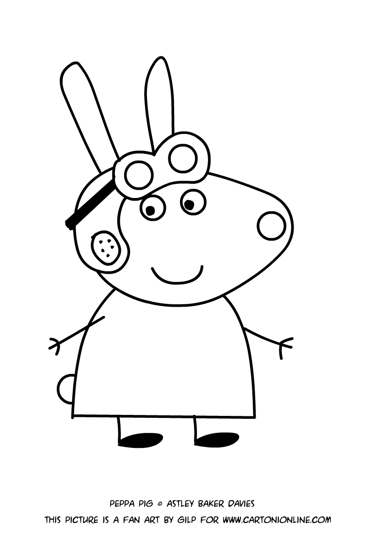 Mrs Rabbit Coloring Pages