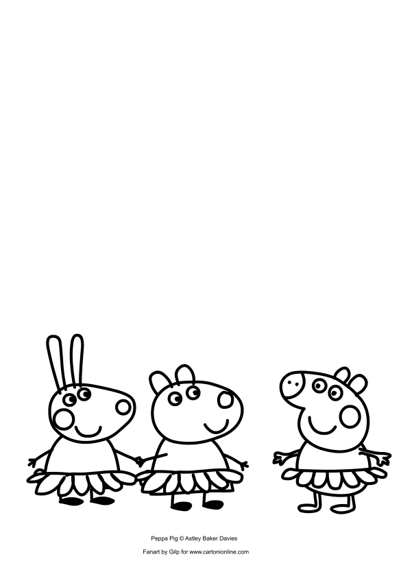 Peppa Pig ballerina coloring pages