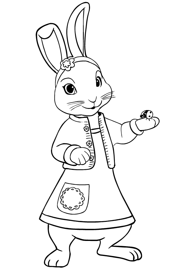 - Drawing Of Lily Bobtail L'friend Of Peter Rabbit Coloring Page