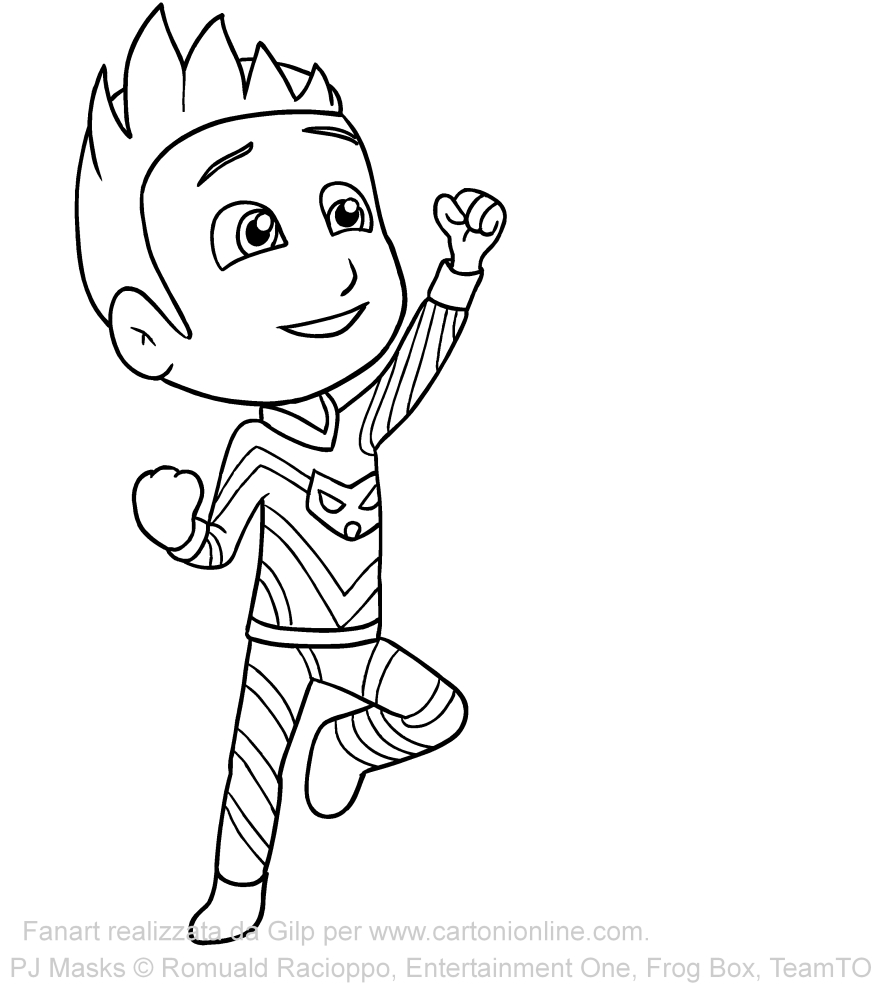 Connor of PJ Masks coloring pages