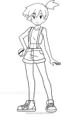 Misty Pokemon Coloring Page - Free Pokémon Coloring Pages ... | 170x87
