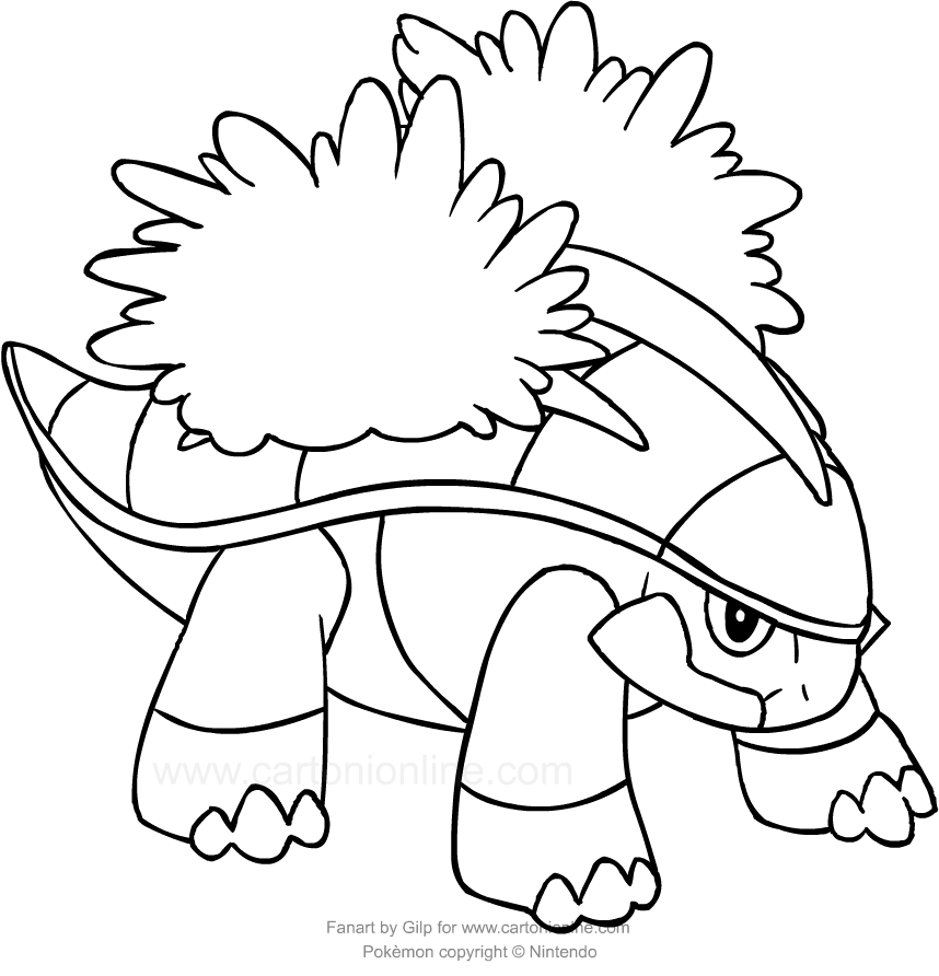 Drawing Grotle Of The Pokemon Coloring Page