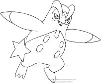 Drawing Pokèmon fourth generation coloring page