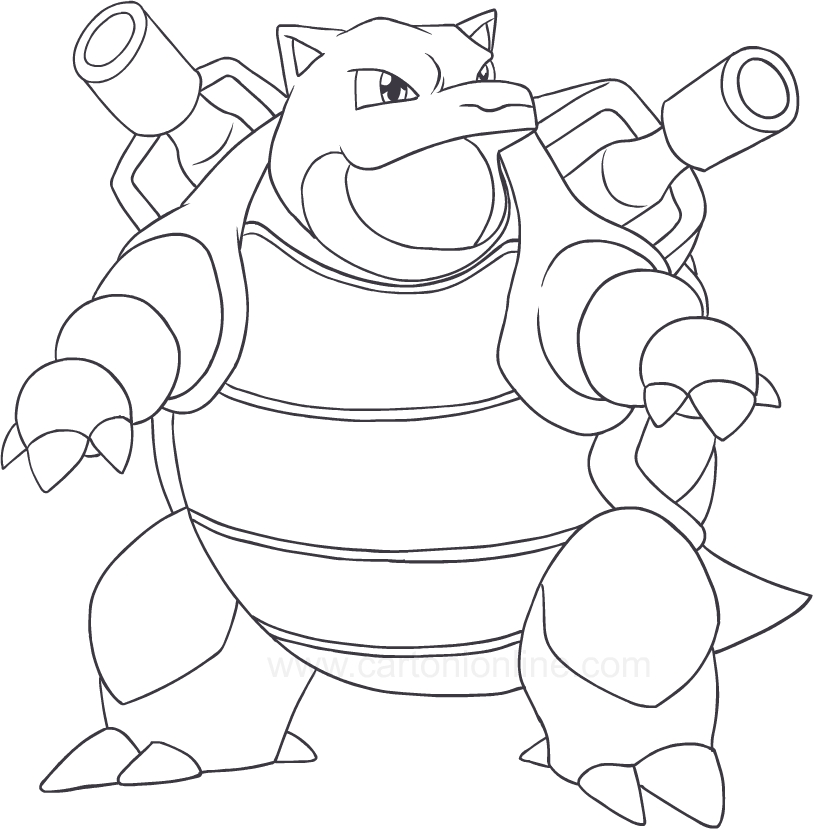 pokemon coloring pages of blastoise - photo#24