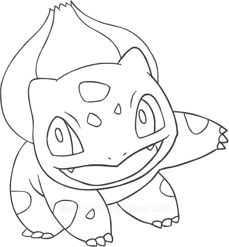 Drawing Bulbasaur Of The Pokemon Coloring Page
