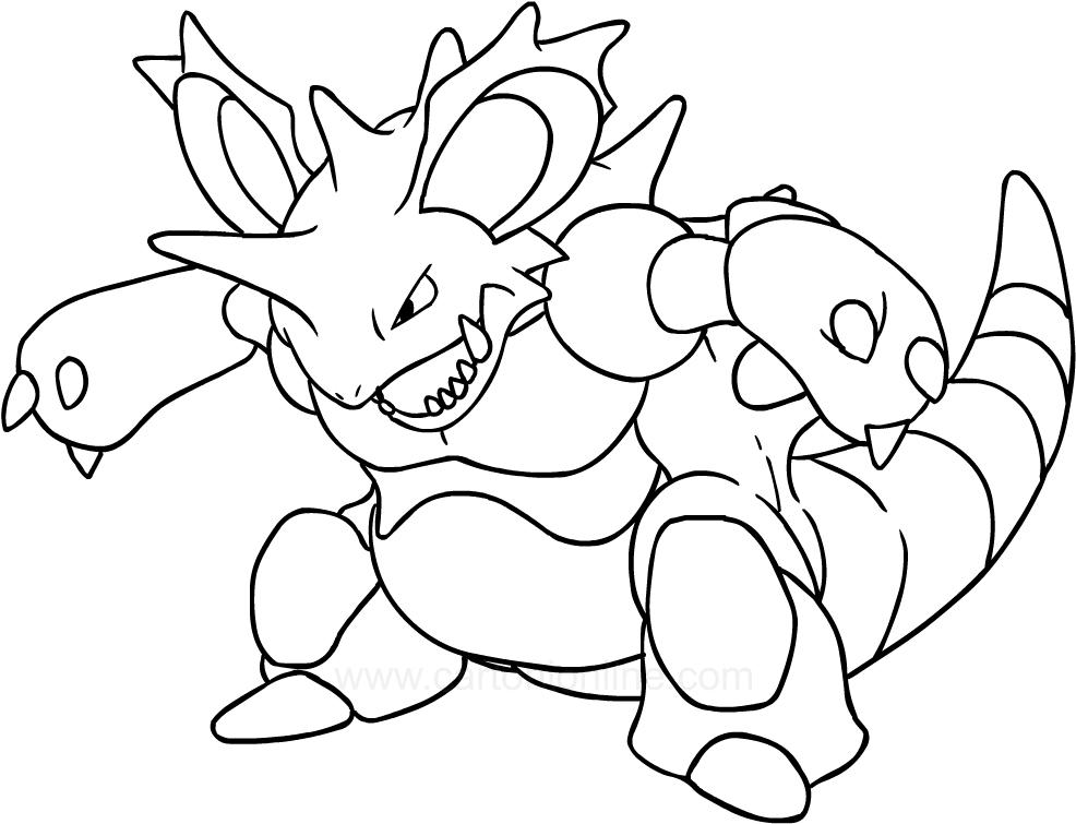 Drawing Nidoking of the Pokemon