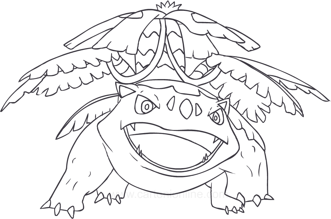 Drawing Venusaur Of The Pokemon Coloring Pages Printable For Kids