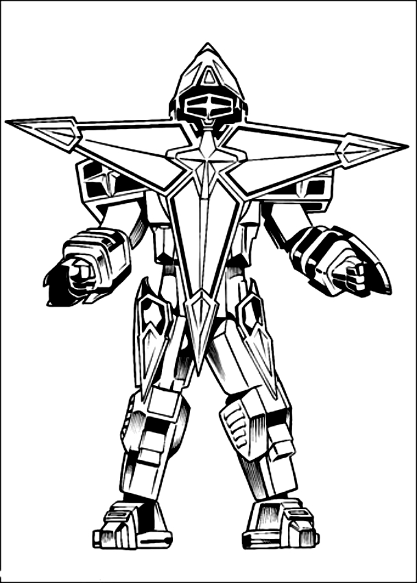 Drawing Of Megazord Dei Power Rangers Coloring Page