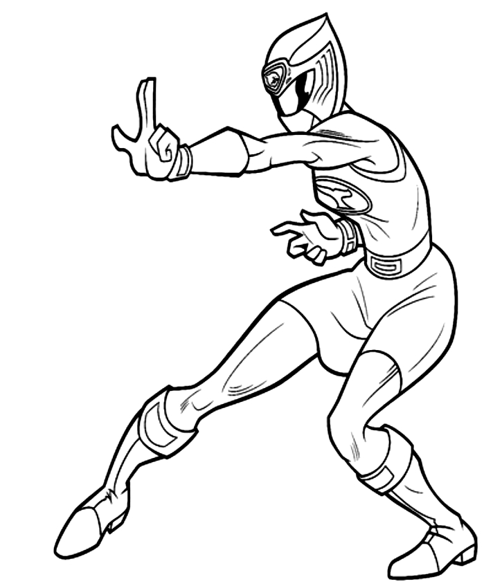 Drawing Of Power Ranger Rosa Dei Power Rangers Coloring Page