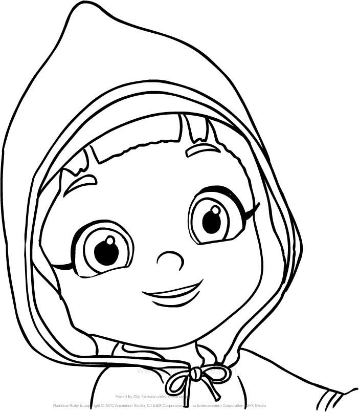Drawing Rainbow Ruby coloring page
