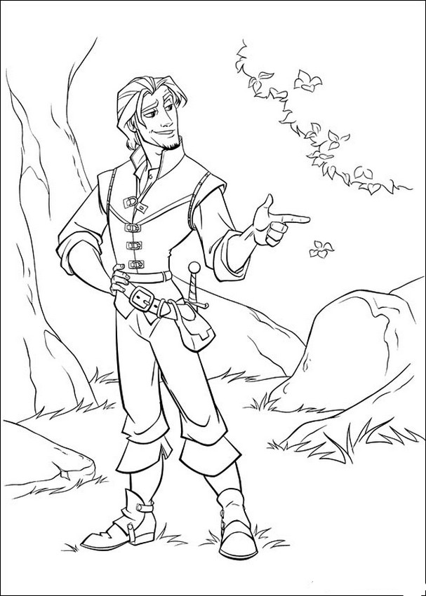 Flynn Ryder Coloring Page