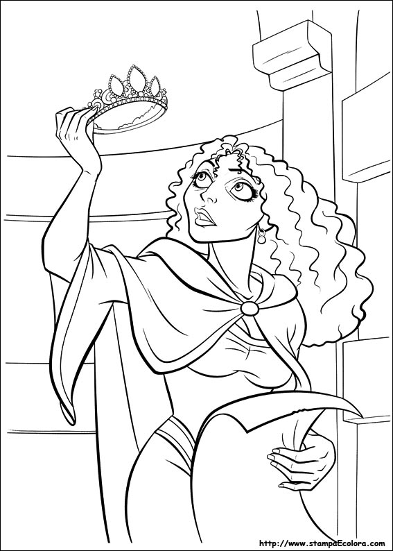 mother gothel coloring page