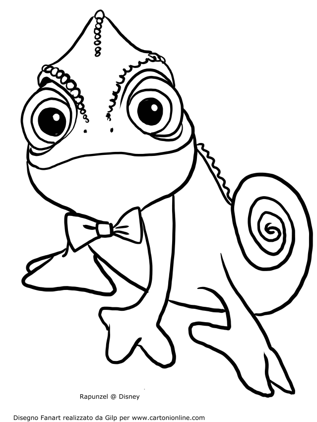 Pascal Smiling Coloring Page