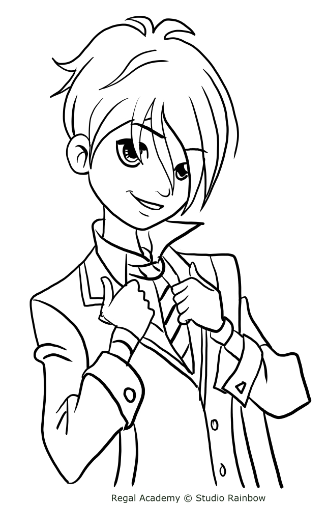 hawk snowwhite from regal academy coloring pages
