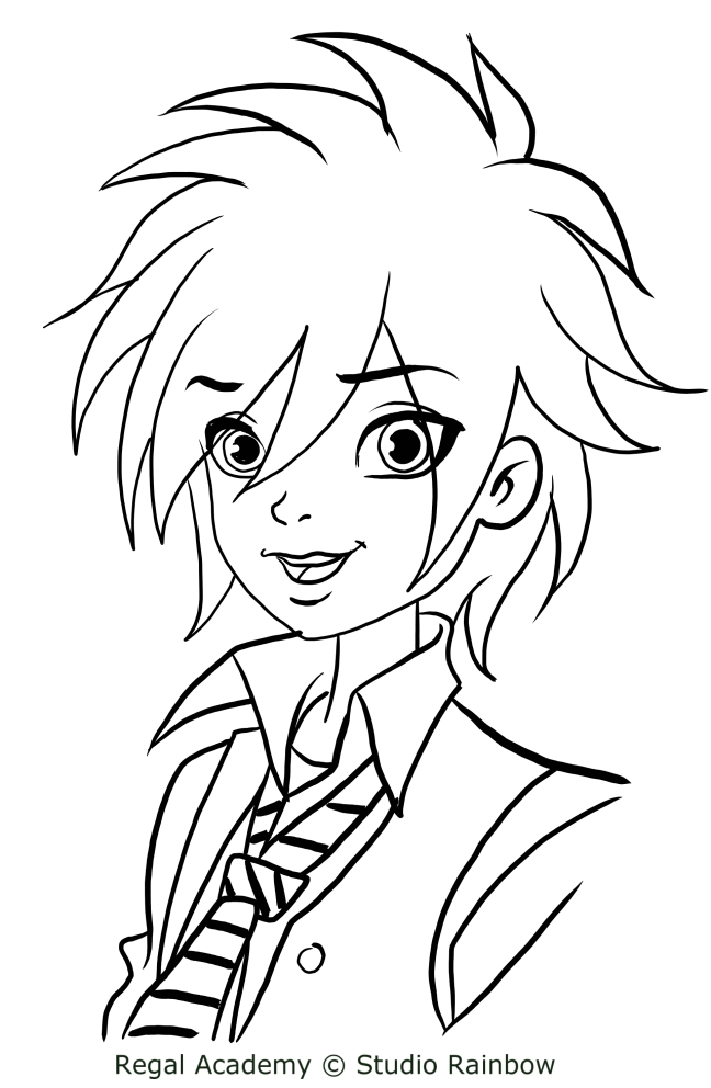 Travis beast from regal academy coloring pages for Disegni regal academy da colorare