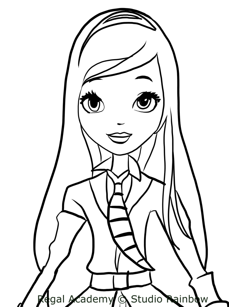 rose cinderella from regal academy coloring pages