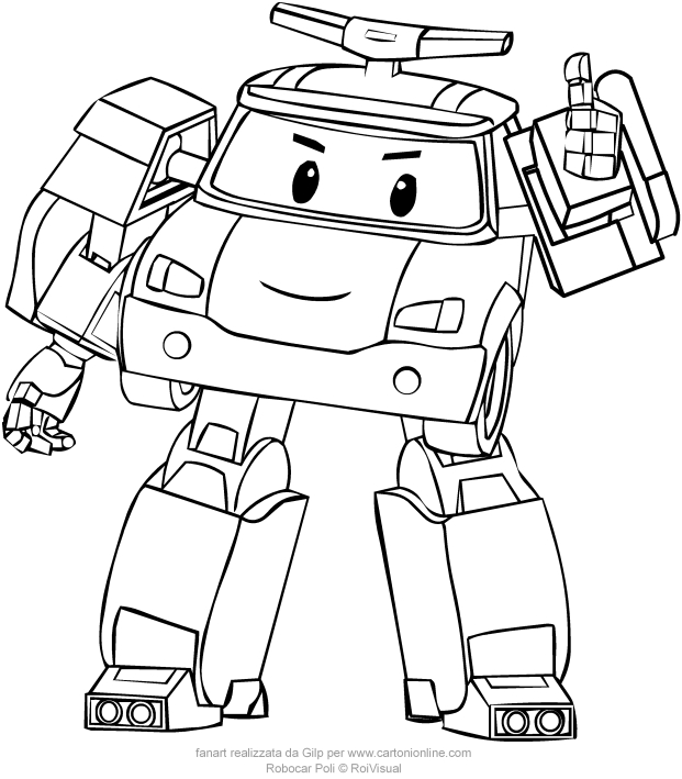Coloring Pages Robocar Poli : Poli from robocar coloring pages