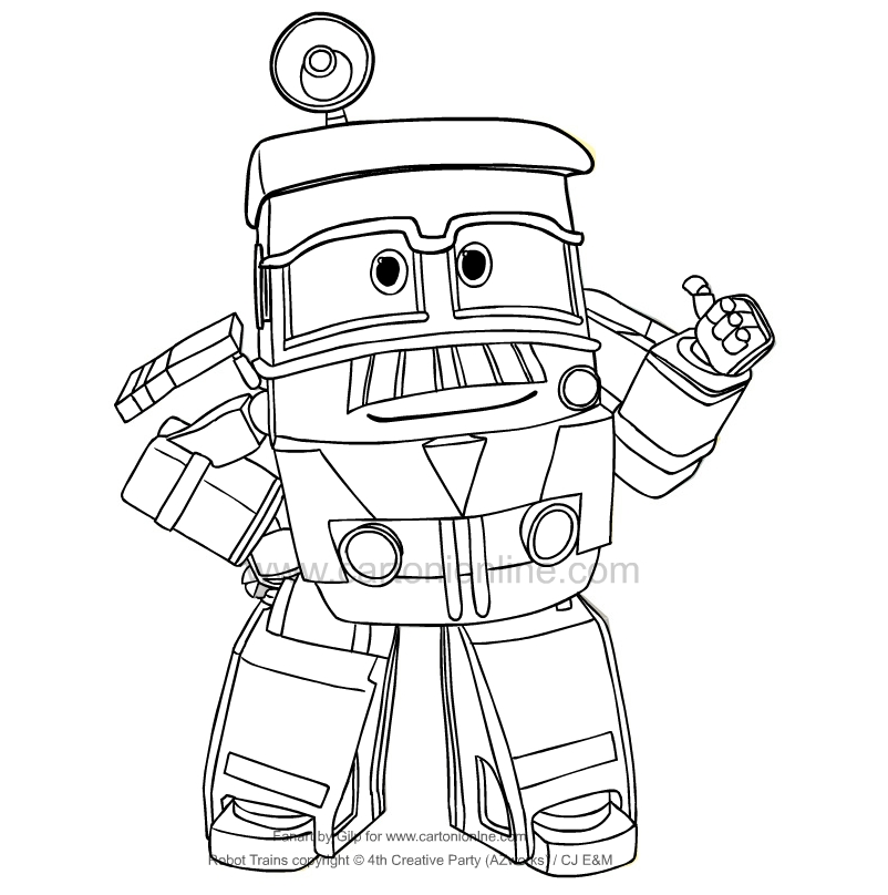 Jeffrey from Robot Trains coloring