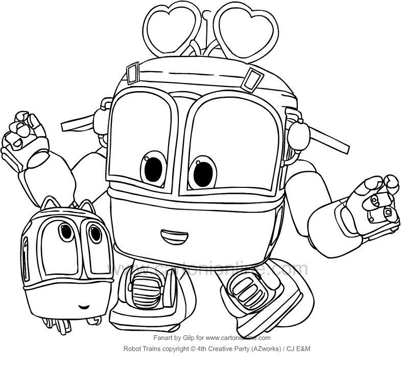 Sally from Robot Trains coloring