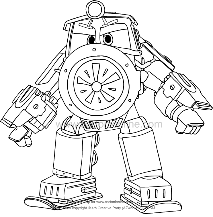 Victor from Robot Trains coloring