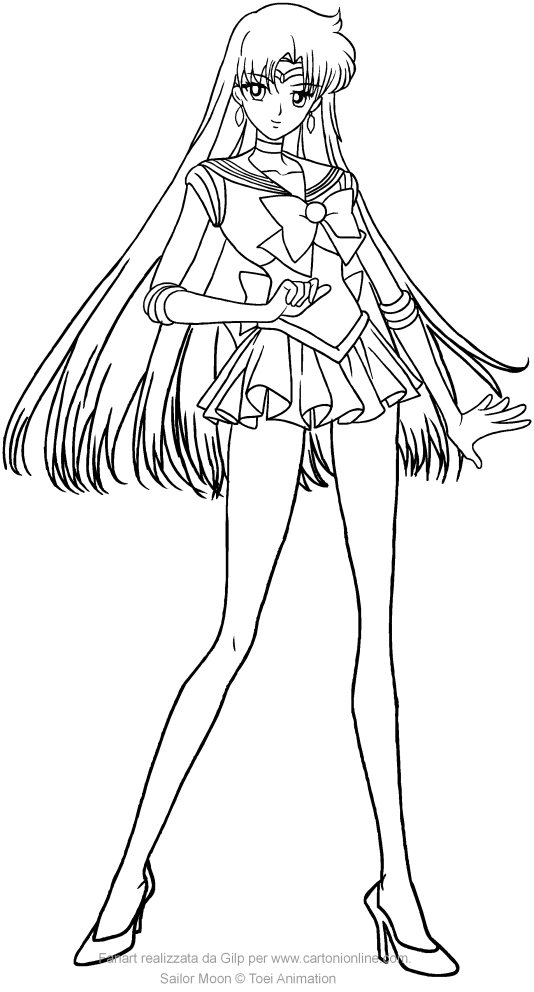 Sailor Mars Crystal coloring pages