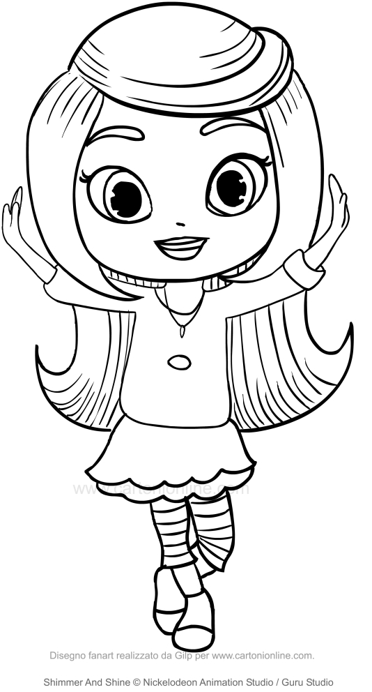 Leah Shimmer And Shine Coloring Page