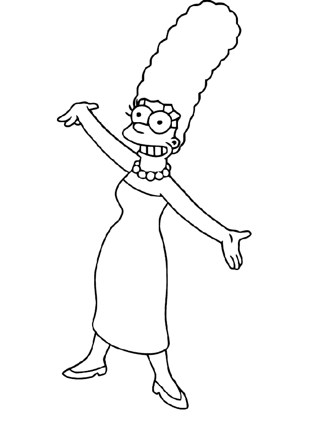 Drawing Of Marge Simpson Coloring Page