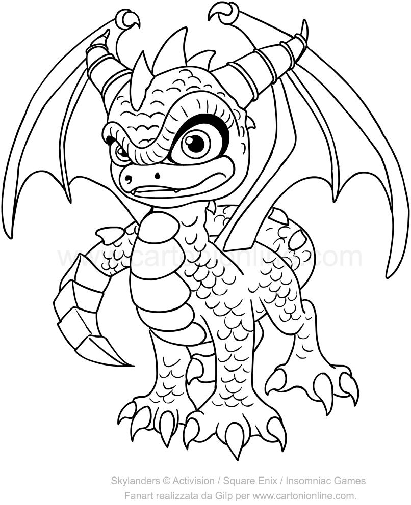 Skylanders Spyro coloring pages