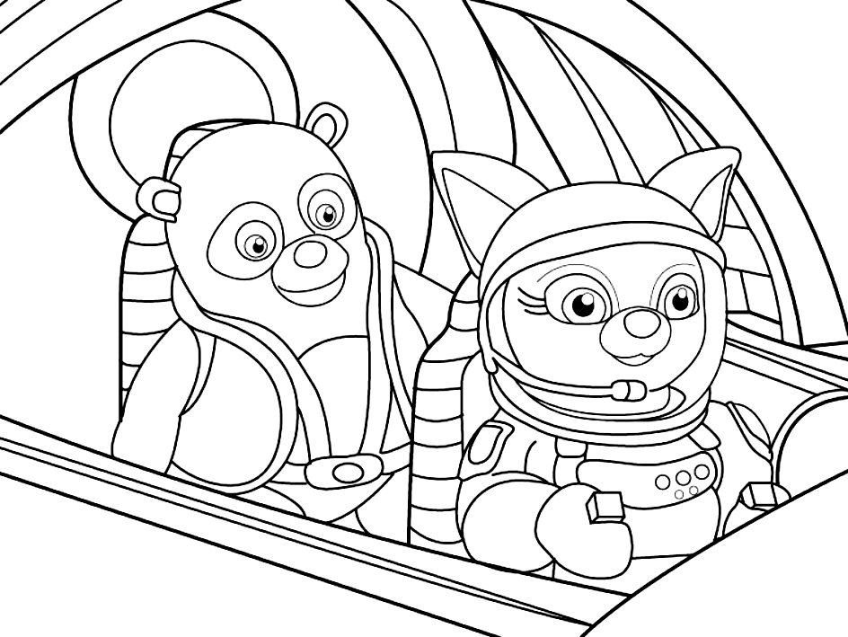 Special agent OSO on rope coloring pages for kids, printable free | 709x944