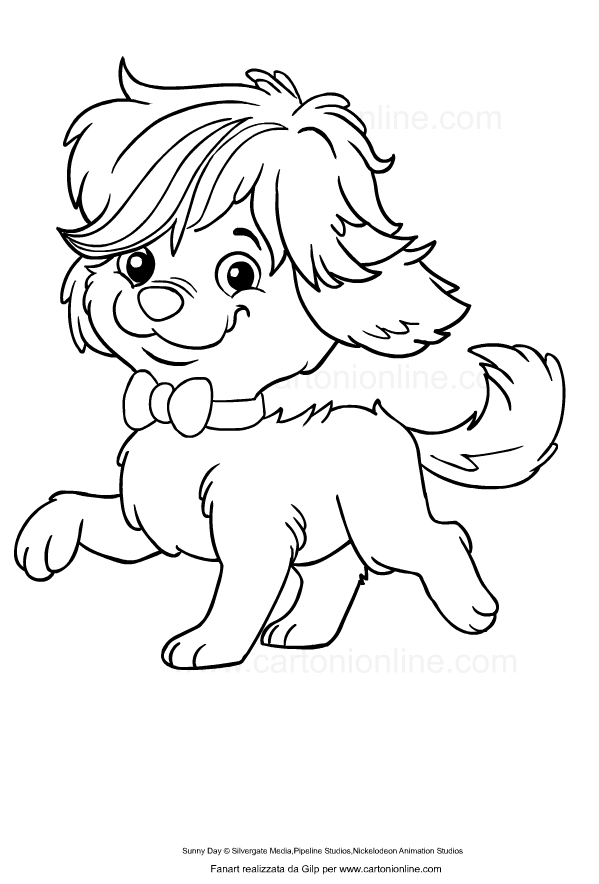 Drawing Of Doodle From Sunny Day Coloring Page
