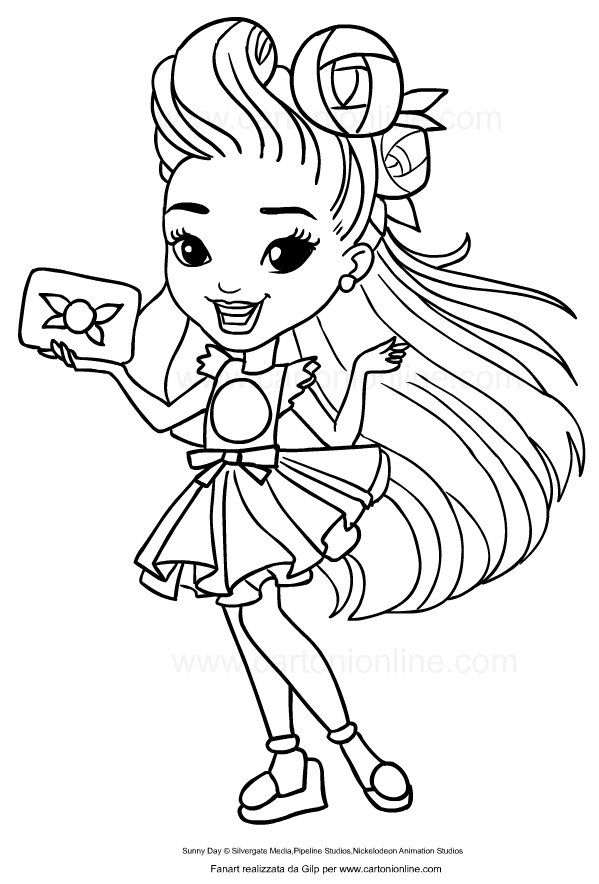 Drawing Of Blair From Sunny Day Coloring Page