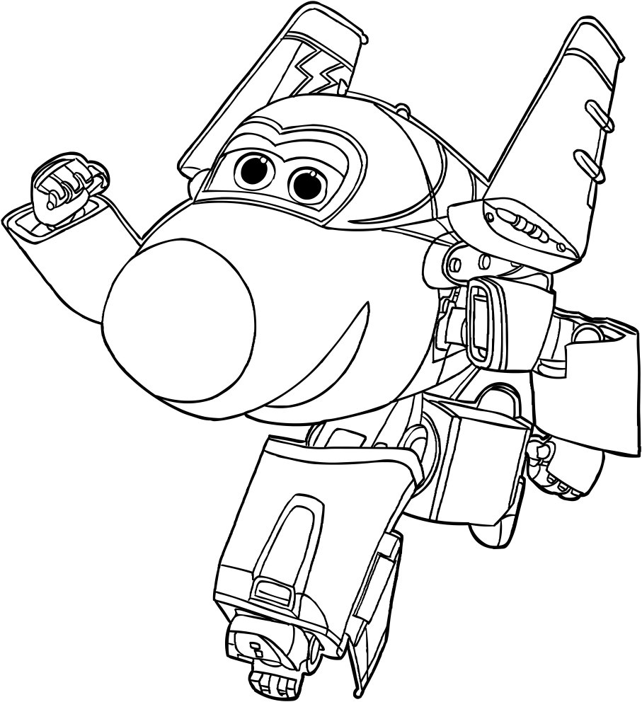 jerome of the super wings coloring pages