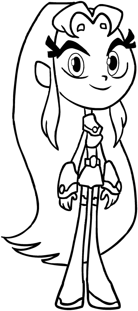 Starfire of the Teen Titans Go coloring pages