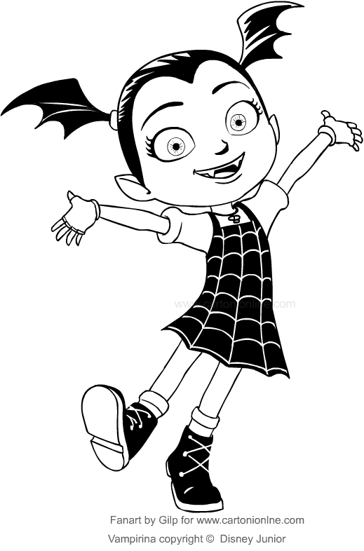 Drawing Vampirina Coloring Pages Printable For Kids