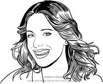 Drawing Violetta Coloring Page