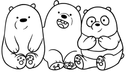 We Bare Bears Coloring Page