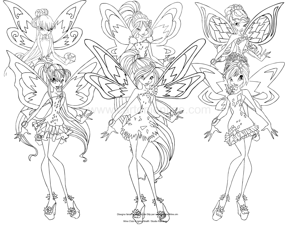 winx club tynix coloring pages - photo#14