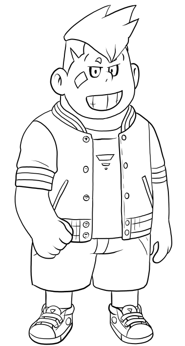 Barnaby Bear Bernstein From Yo Kai Watch Coloring Pages