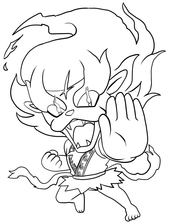 Blazion From Yo Kai Watch Coloring Page
