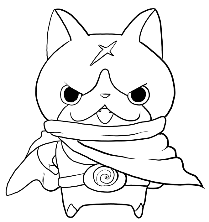 Hovernyan From Yo Kai Watch Coloring Page