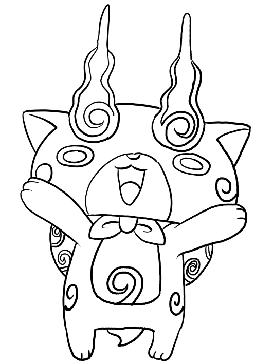 Komajiro from yo kai watch coloring pages for Yo kai watch coloring pages